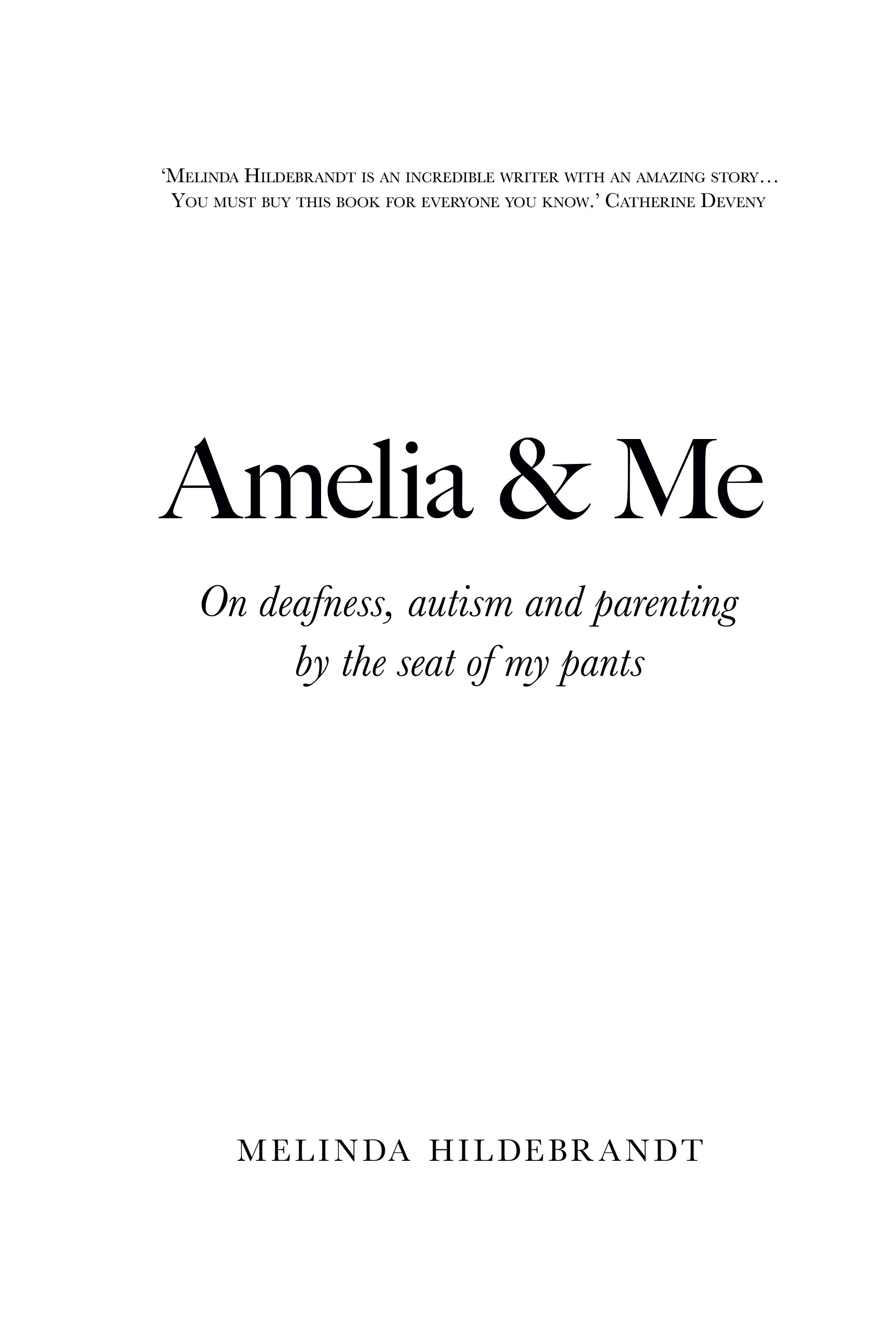 Amelia & Me<br/><br/>Sample Chapter: Welcome to Holland? - Page 1