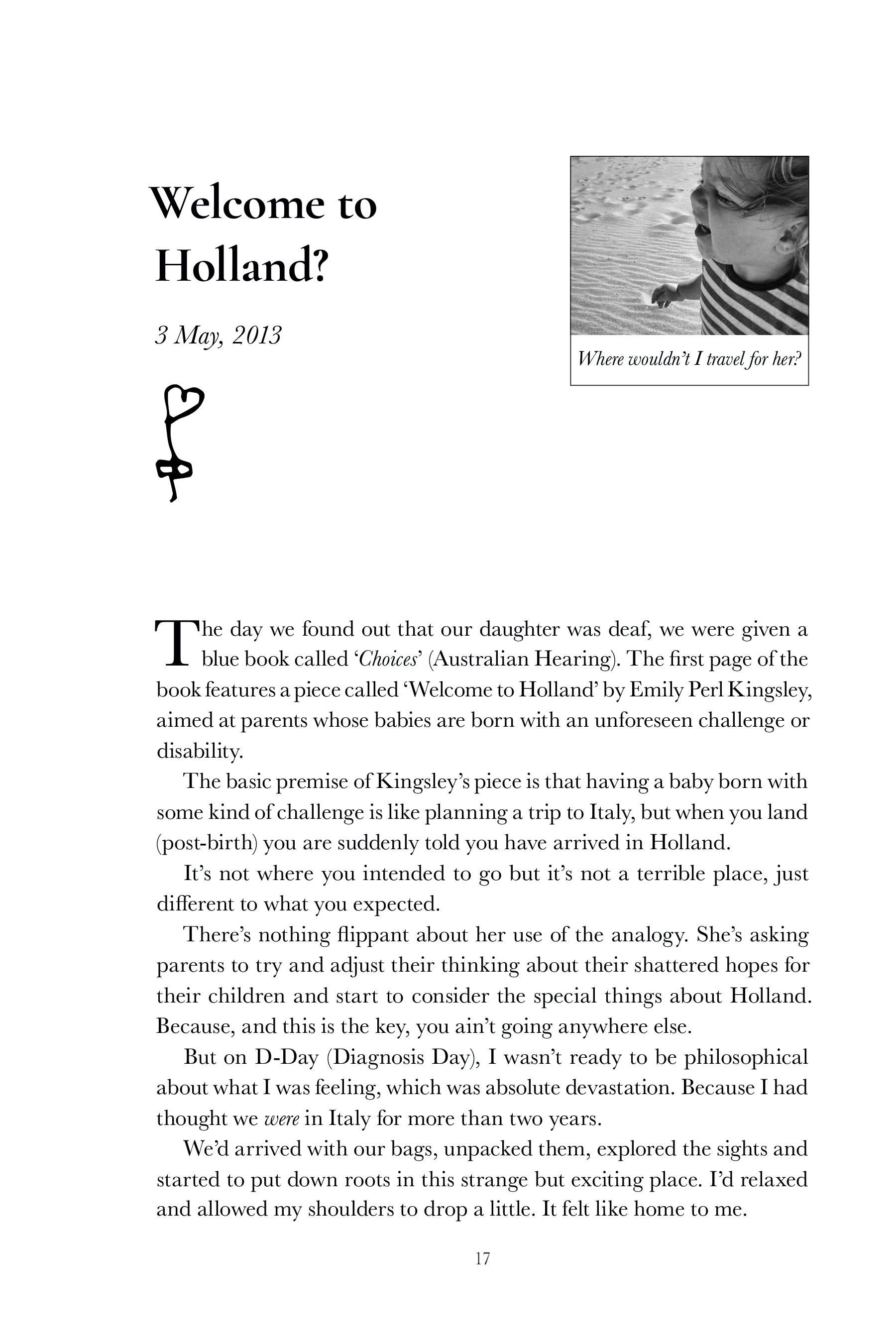 Amelia & Me<br/><br/>Sample Chapter: Welcome to Holland? - Page 2